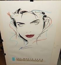 DENNIS MUKAI 17 COLOR METALLIC SERIGRAPH MARAGE EDITION LONDON EXPO POSTER