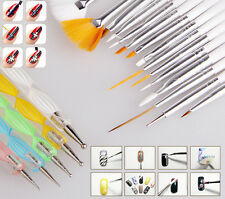 Colorful 20pcs Nail Art Drawing Painting Dotting Pens Brushes Manicure Tool Set