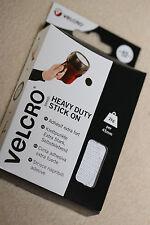 HEAVY DUTY 45mm Self Adhesive WHITE VELCRO® Hook & Loop Coins 6 Hook & 6 Loop