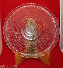 Arcoroc France Swirled Spirale Spiral Serving Party Glass Plate 30cm 11 3/4""