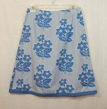 BODEN WOMENS PRINTED FLORAL SKIRT UK 10R US SMALL CASUAL DRESS SPRING SHIRT TOP