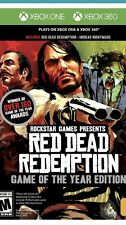 Red Dead Redemption -- Game of the Year Edition (Xbox One,  360, 2011) New