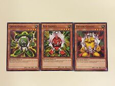 """GADGET"" 3 card Set - GREEN RED YELLOW - (DPRP-EN021-023) Common 1st - Yu-Gi-Oh"
