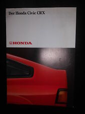 Prospekt Sales Brochure Der Honda Civic CRX Car  1980 Technik Auto  автомобиль