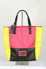 Marikai Designer Black Yellow Pink Lined Shoulder Tote Shopper Hand Large Bag