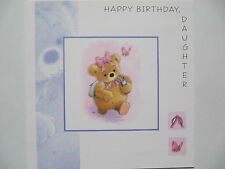WONDERFUL COLOURFUL TEDDY & HER MOBILE DAUGHTER BIRTHDAY GREETING CARD