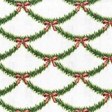 Michael Miller Holiday CX6341 Festive Garland BTY Cotton Fabric FREE US SHIP