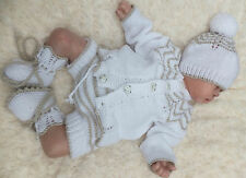 KNITTING PATTERN TO MAKE *COOKIE* 4 PIECE SET FOR BABY OR REBORN DOLL