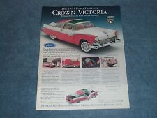 1955 Ford Fairlane Crown Victoria Franklin Mint Ad Die-cast from 1994