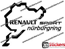 2 Stickers Renault Sport Nurburgring 10 cm clio megane rs cup Autocollant decals