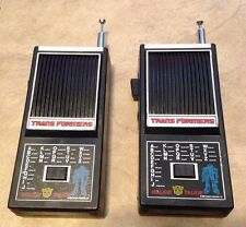 Vintage 1980's Transformers Walkie Talkie Set Tested working w/ good antennas