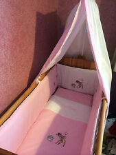 Bambi Nursery Set,  pink and white, fleece blanket and drapes to fit a cot bed