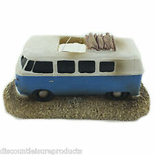 Aquarium Blue Surf VW Camper Van Fish Tank Surfer Decoration Ornament - MS847