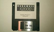 KURZWEIL K2000-programas de fábrica y demostraciones disquete. K2000r K2500 K2600 Reset