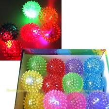Flashing Light Up Spikey High Bouncing Balls Novelty Sensory Hedgehog Ball