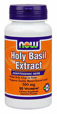 HOLY BASIL EXTRACT - 500 mg - 90 Vcaps-SUPPORTS BLOOD GLUCOSE LEVELS - NOW FOODS