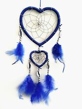 HandmadeDream Catcher with feathers wall /car hanging decoration ornament-HBLU