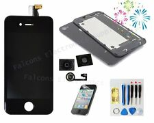 Black For iPhone4S Replacement LCD Touch Screen Digitizer Assembly +back+button