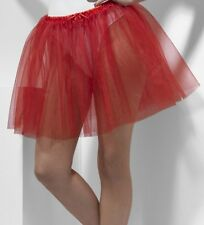 Ladies Petticoat Fancy Dress Underskirt Red Peticoat 2 Layers New by Smiffys