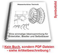 Wasserturbine selbst bauen - Wasser Turbine Technik Patente Patentschriften