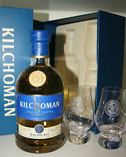 Kilchoman Machir Bay 46% Gift Pack + 2 Glen cairn vasos-en Box