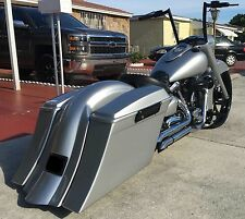 """Road Star 5 1/2"""" Stretched Saddlebags replacement fender & 6x9 lids Fits 99 &up"""