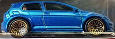 Hot Wheels 2016 Car Culture Volkswagen Golf MK7 Blue Euro Style Real Riders VW