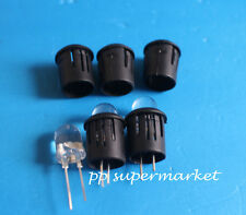 50pcs 10mm Black Plastic LED Clip Holder Case Cup Mounting