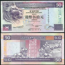 Hong Kong 50 Dollars 2002 P202e UNC (HSBC)