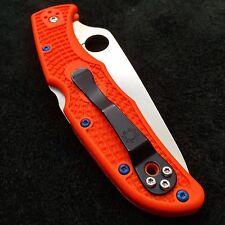 Spyderco Endura 4 ~ (4) Torx Scale Screws ~ Titanium Blue Screws (  No Knife  )