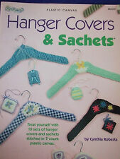 "NEEDLECRAFT ""HANGER COVERS&SACHETS"" PLASTIC CANVAS PATTERNS BABY /BRIDAL SHOWER"