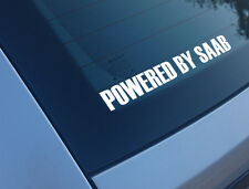 POWERED BY SAAB CAR STICKER DECAL FUNNY 93 95 9-3 9-5 B204 ENGINE B205 ASTRA