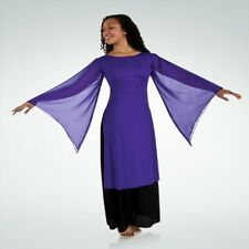 Size 2xl purple dance tunic with free shipping