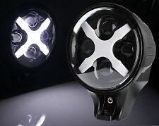 """6""""Inch 60W Round White LED Fog Spot Lights X DRL Turn Signal Reverse Offroad New"""