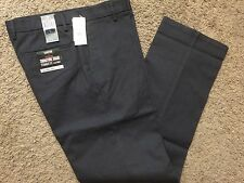 NWT DOCKERS Mens D2 Signature Khaki flat front Charcoal Gray Pattern Pant 31x30