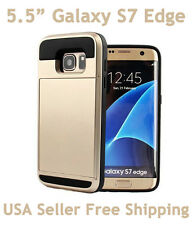 Verus VRS Design Galaxy S7 Edge Damda Slide Shockproof Card Wallet Case Gold
