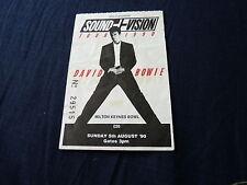 Billet David Bowie Milton Keys uk 1990!!!