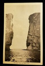 The split rock at Perce, P.Q. 5.5 x 3.5  postcard Canada 2 cent stamp