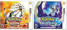 Pokemon Sun and Pokemon Moon Dual Pack COMBO - Nintendo 3DS