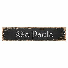 SP0201 Sao Paulo Street Sign Bar Store Shop Pub Cafe Home Room Chic Decor