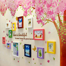 Huge Two Pink Cherry Blossom Flower Tree Wall Sticker Art Mural Home Decor Decal