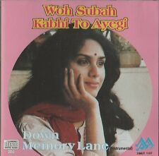 WOH SUBAH KABHI TO AYEGI -DOWN MEMORY LANE - DHEERAJ DHANAK - BRAND NEW CD