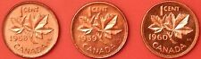 Brilliant Uncirculated 1958-1960 Canada 1 Cents From Mint's Rolls Maybe Toned