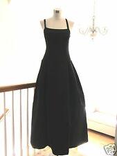After Six Classic Black satin simple formal prom gown dress S M 6 8 10 200+