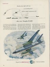1953 Douglas Aircraft B-66 Bomber Advertisement USAF Air Force B-66B Color Image