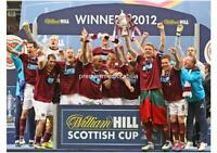 HEART OF MIDLOTHIAN FC HEARTS FC 2012 SCOTTISH CUP FINAL WINNERS EXCLUSIVE PRINT