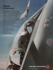 2/1989 PUB BRITISH AEROSPACE AERITALIA MBB PANAVIA TORNADO ADV ORIGINAL AD