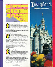 """DISNEYLAND 30 YEARS BROCHURE & PICTURES~26"""" X 9"""" FOLDOUT~ C.1985~VG"""
