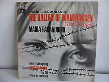 THEODORAKIS The ballad of Mathausen MARIA FARANDOURI 14C062 70204 GRECE