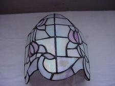 Aus Perlmut hergestellte farbl.dezente Wandlampe - HONSEL- im Tiffany Stil